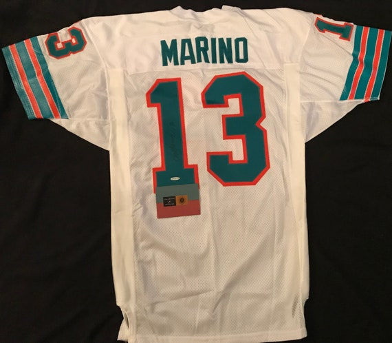 info for cec03 c8271 Dan Marino Signed Miami Dolphins 75th Anniversary Jersey Upper Deck COA