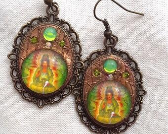 Kuan-Yin Buddha Earrings