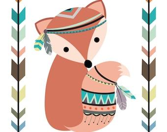 Stay Clever Little Fox - Fox Nursery Decor - Fox Nursery Print - Woodland Nursery Printable