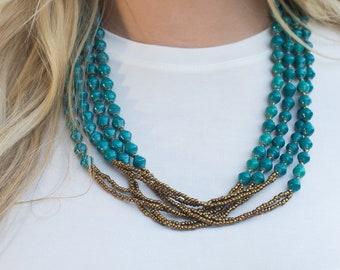 NASILLA *more colors* Multi-strand Ugandan Paper Bead Necklace