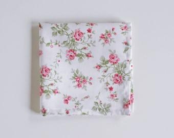 Rose Floral Pocket Square