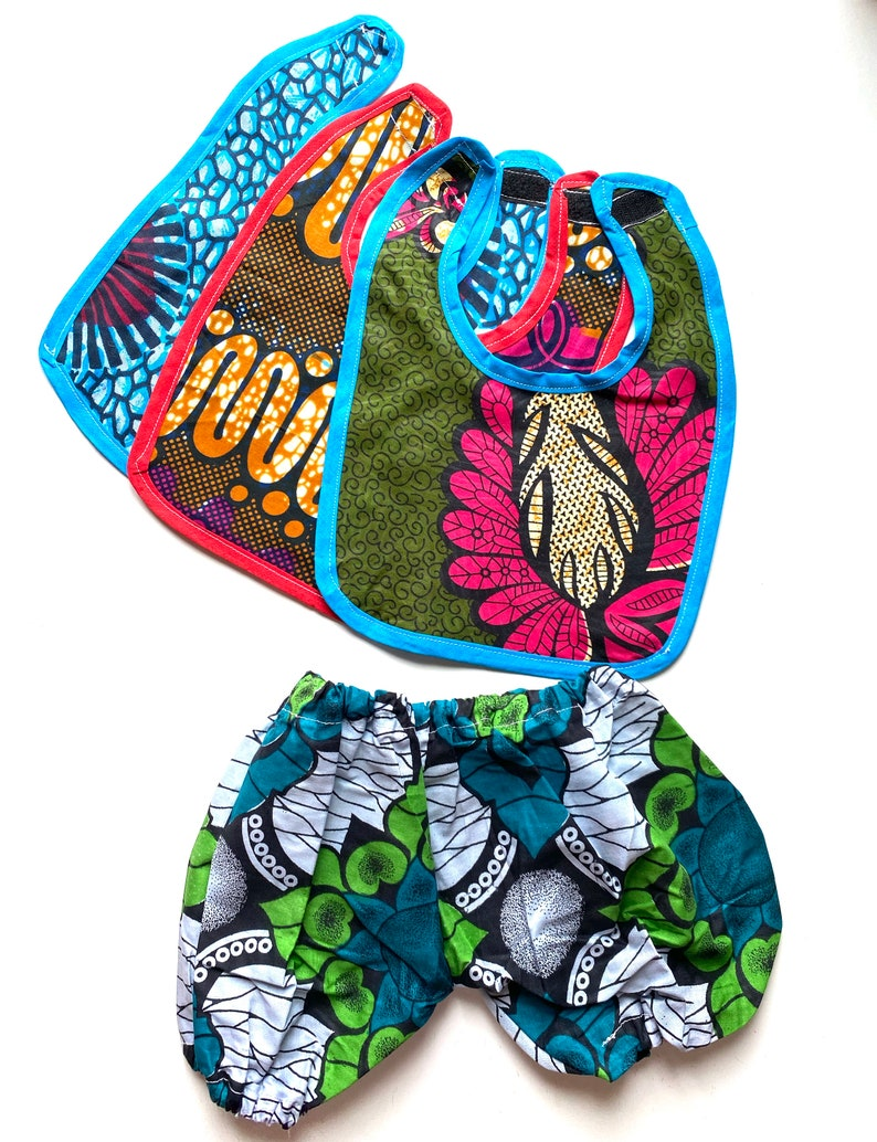 Bright Colourful  fabric 0-12 months Baby Bibs