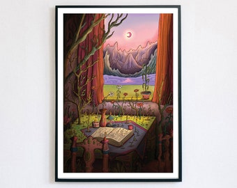 Isolation - Giclée Print A4, A3, A2   Dreamland   Psychedelic Art   Illusion Art   Whimsical Art   Quirky Gift   Infinity   Escher