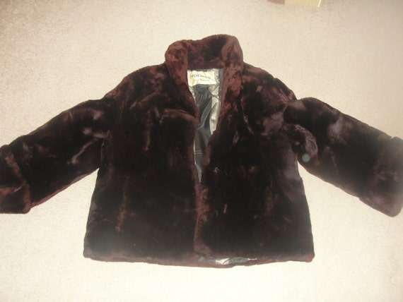 Holmes New Orleans fake fur vintage coat