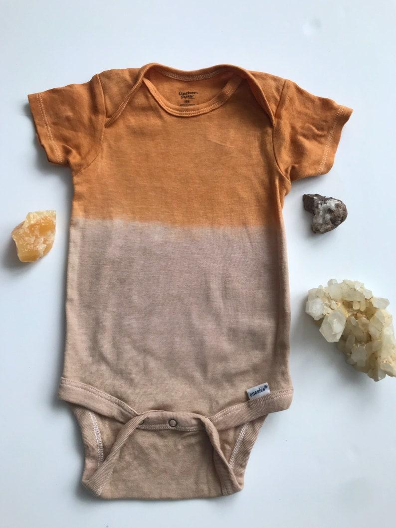 5928f3e9e Hand dyed NEW ORGANIC gender neutral EARTHY modern rust orange | Etsy