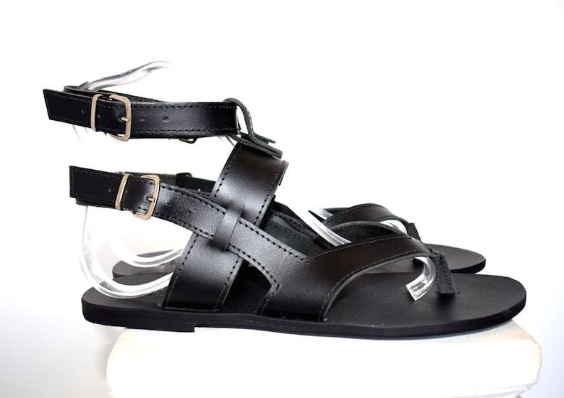 b9d8333a949 Gift For Men Black sandals for men Tom Gladiator Men