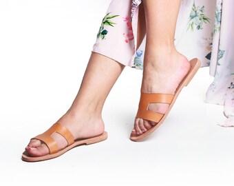 Sandales pour femme en cuir grec / romain sandales / sandales Hermes / fait à la main sandales / sandales en cuir haute qualité / véritable cuir