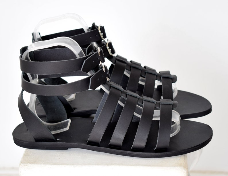39e95c846c8 Gift For Men Gladiator Men Sandals Black sandals leather