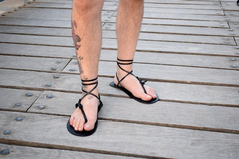 8fb6cd0ca445b8 Sandalo a piedi nudi sandali uomo colore nero sandali a image 0 ...