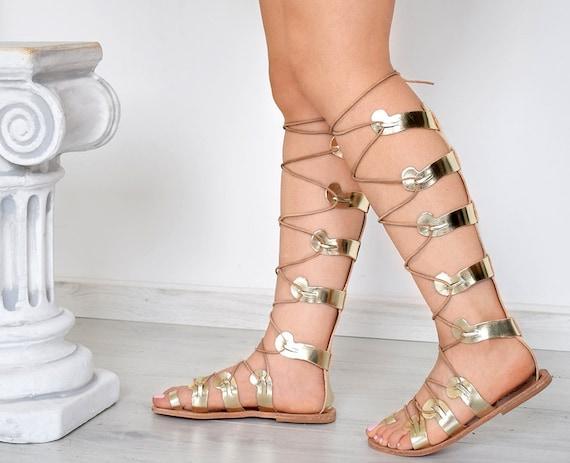 Handmade By Sparta Sandals Ancient Greek Women Sandals High Quality Genuine Leather Black Gladiator Stylish