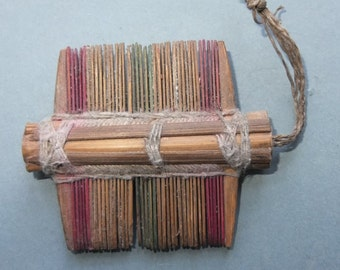 Old Handmade Wooden Folk Comb from Laos, FREE SHIPPING