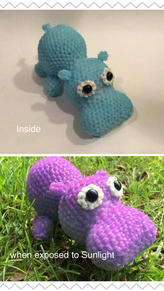 Color Changing Hippo Rubber Band Figure Rainbow Loom Etsy