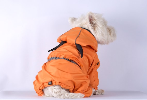 RegenmantelCupra WasserdichtHund HundemantelOrange ReißverschlussRegenjackeBenutzerdefinierte Brust FutterMantel Mantel rdoBxCe