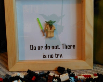 Handmade Brick Art. Yoda, 'Do or do not, there is no try'.