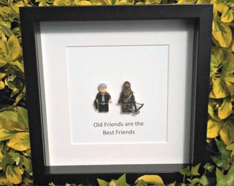 Han & Chewie, Old Friends, Geek Gift, Star Wars, Best Friends, Birthday Gift, Gift for Him, Gift for Her, Christmas Idea, Nerdy Office Decor