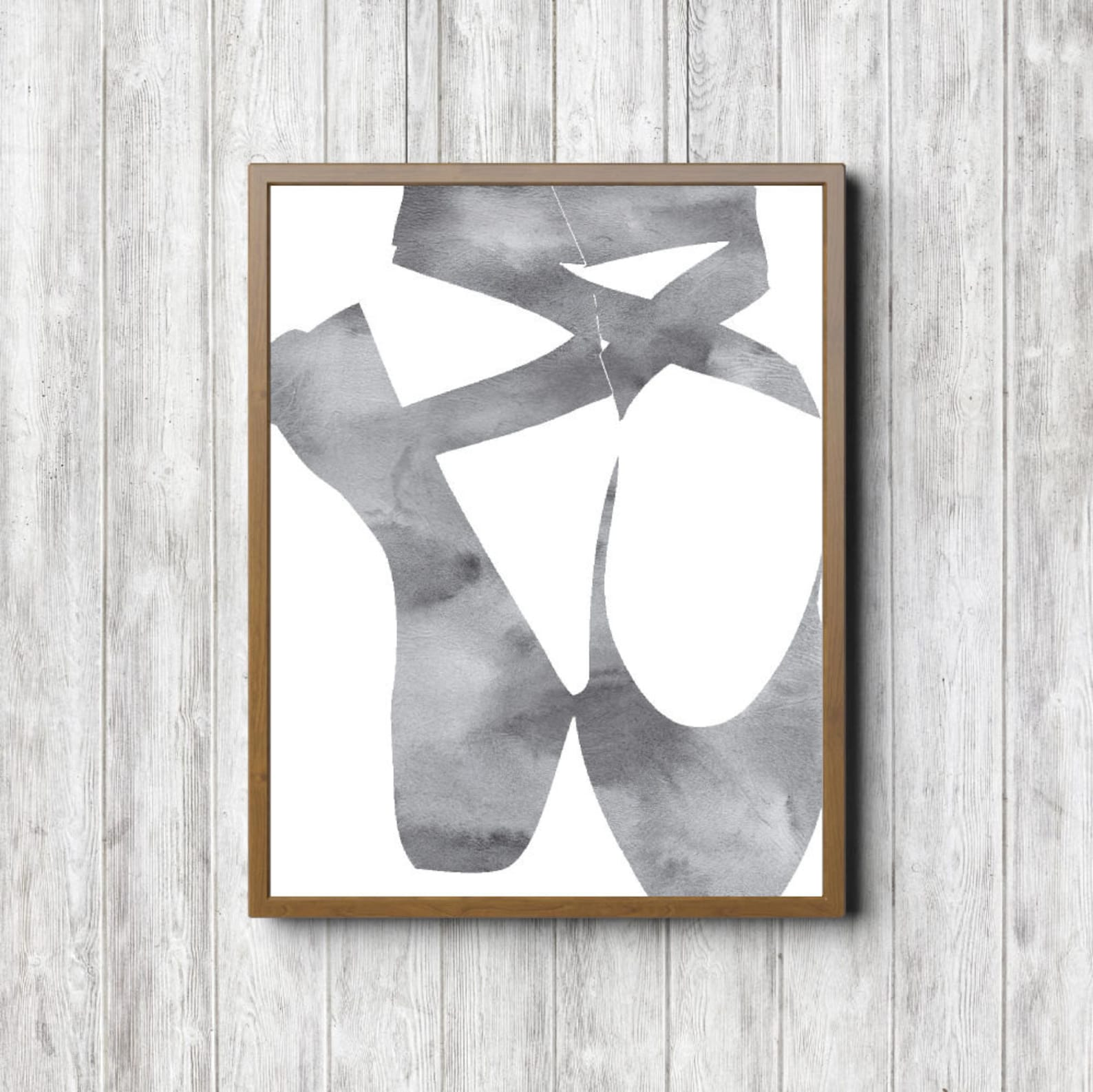 watercolor ballet shoes printable wall art - ballet wall decor - office / studio wall art - girls room - ballet gift - digital a