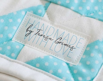 Set of Sewing and knitting labels, fabric tags, personalized sewing labels, quilt labels,, sewing label, crochet, custom fabric label - LS07