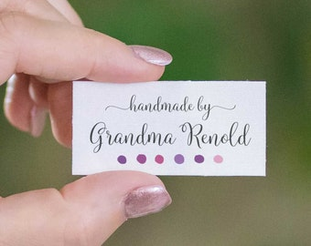 personalized sewing labels, quilt labels, fabric tags, knitting label, cotton tags, logo fabric label, craft tags, custom fabric label, LS05