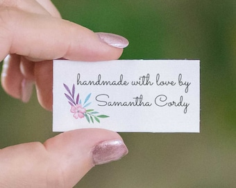 Set of fabric labels, personalized gift for Mom, iron on or sew on tag set, quilt labels, craft show, branding tags, knitting gift - LS22