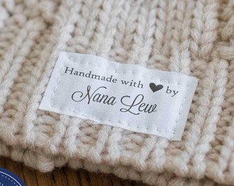 fabric tags, personalized sewing labels, quilt labels, knitting label, sewing label, handmade label, crochet, custom fabric label - LS14