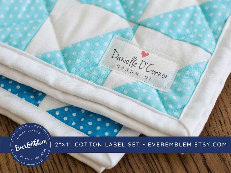 fabric labels personalized gift iron on label quilt labels image 1