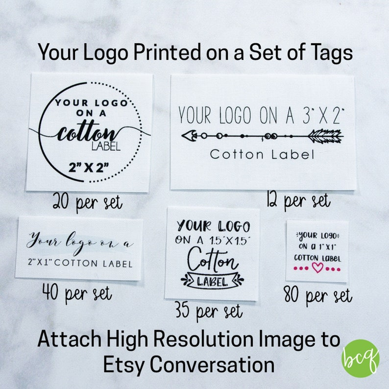 fabric tag personalized label logo label logo tag custom image 0