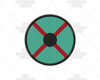 Rollo Lothbrok Vikings Warrior Shield Machine Embroidery Pattern Design