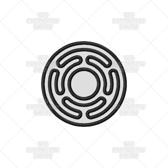 Círculo de la rueda diseño de patrón del bordado de la máquina | Etsy