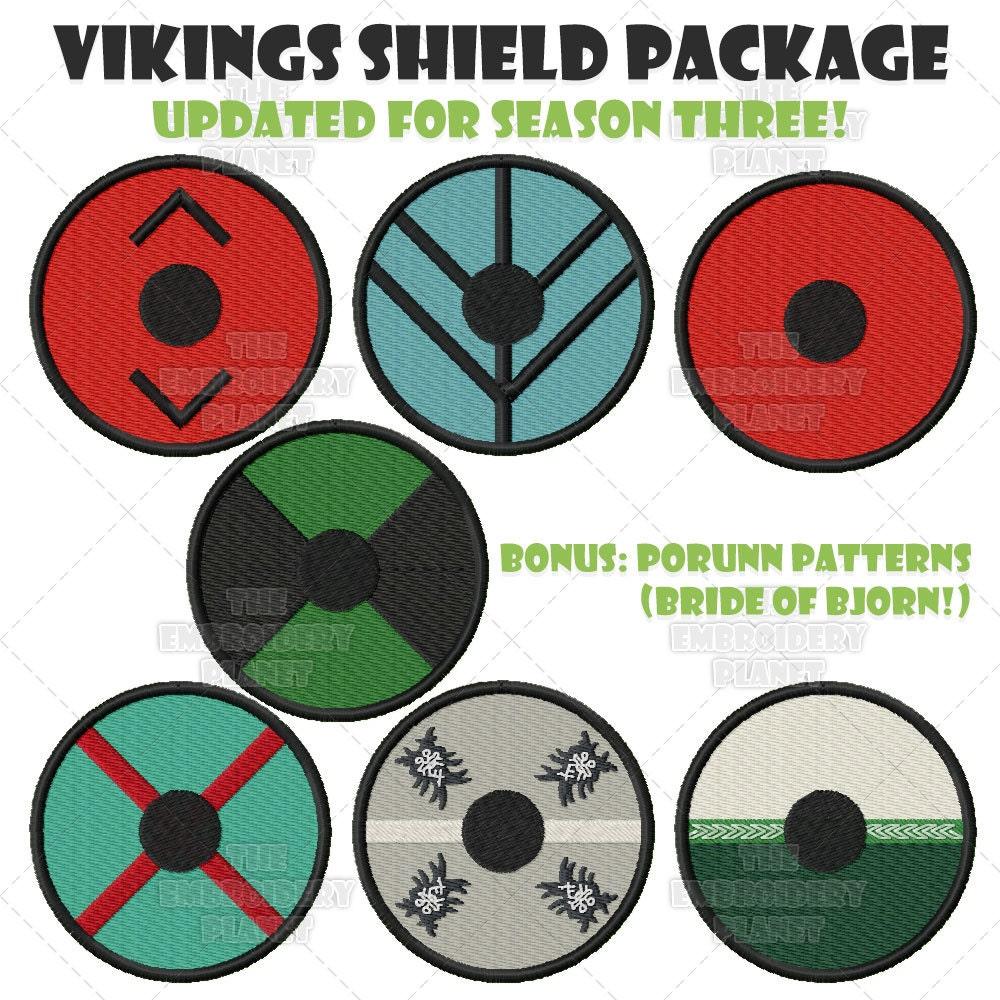Vikings Shield Bundle Machine Embroidery Pattern Design Newly Etsy