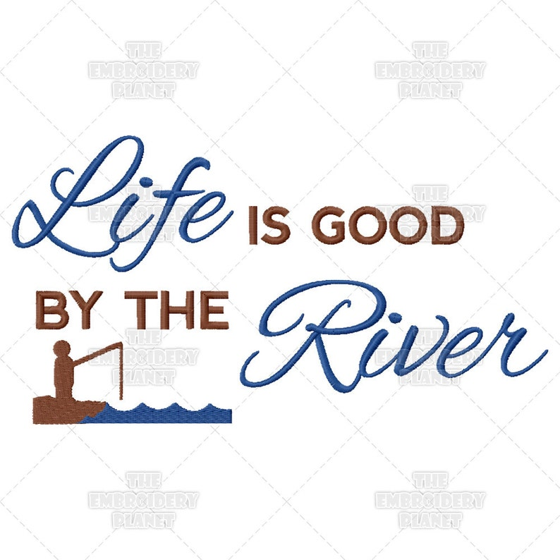 Funny Quotes Life Is Good By The River Sunny Happy Etsy
