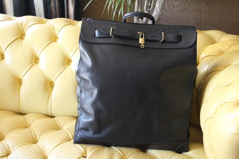 Louis Vuitton Steamer Bag Epi Leather Deep Black Color  0a3f71a1114dc