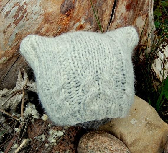 Knitting Pattern Cable Knit Baby Cat Kitten Hat Pattern Etsy