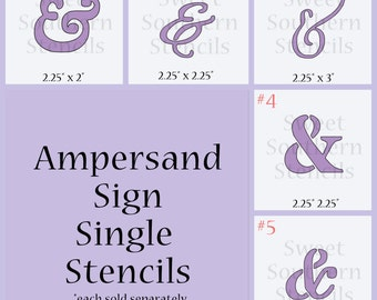 Large Ampersand Sign Single Stencils (each stencil sold separately)
