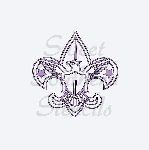 Boy Scout Symbol Cookie Stencil Etsy
