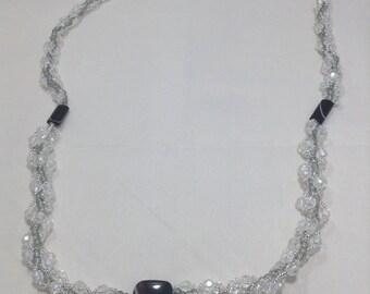 White spiral necklace