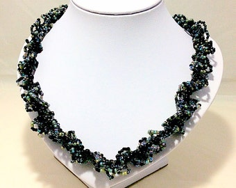 Black butterfly kisses necklace