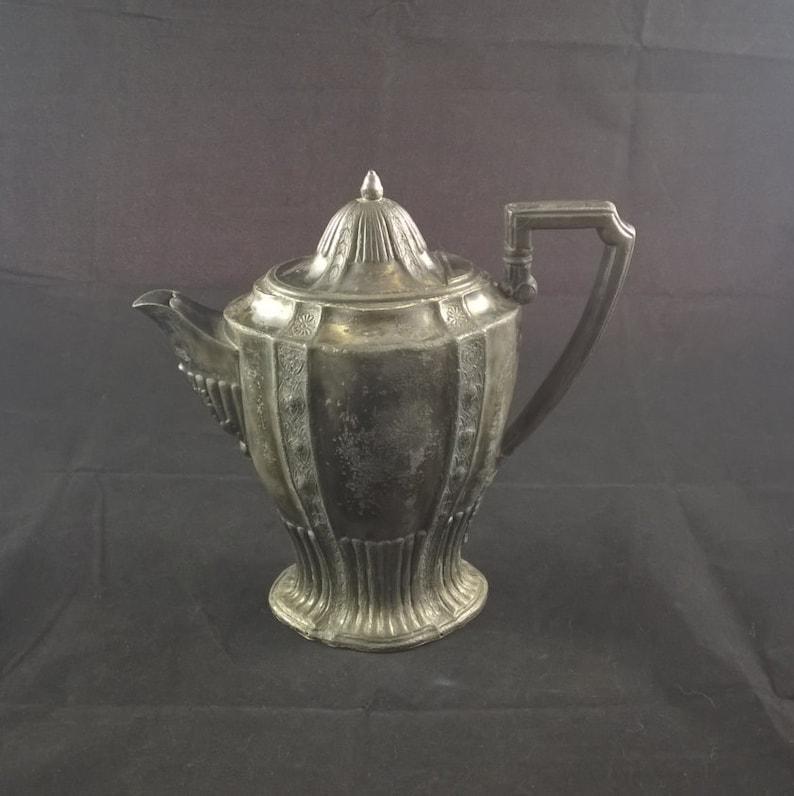 vintage coffeepot teapot pewter coffepot pewter teapot base marking antique pewter antique coffeepot antique teapot coffee and tea English