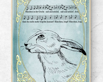 Poster Bunny and Song DINA3