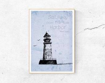 Poster Lighthouse Port DINA3