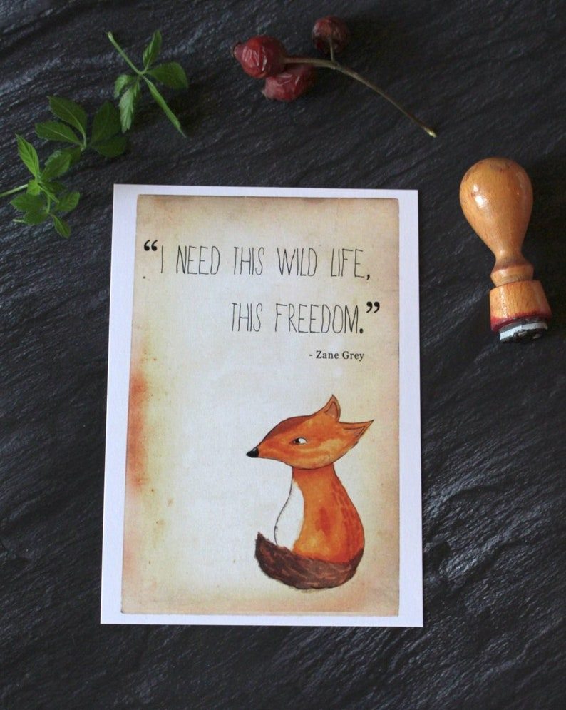 Postcard Fox Quote image 0