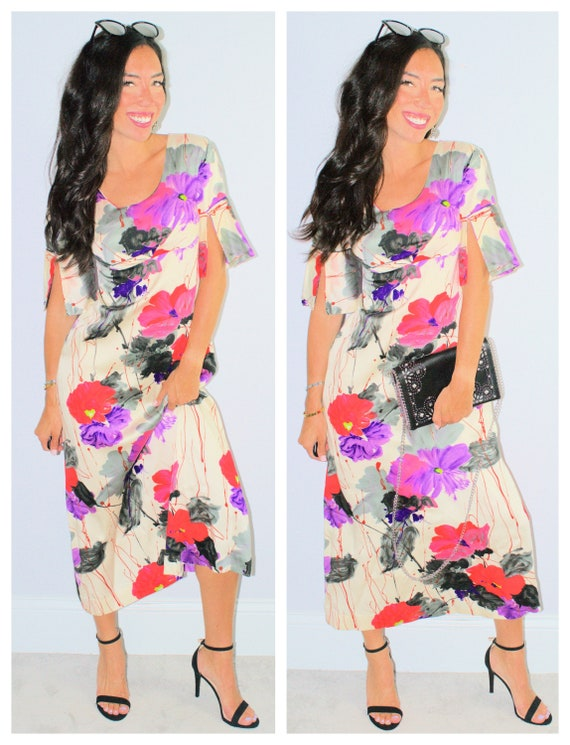 Floral Maxi Dress Long Flowers Boho Hippie Chic Spring Summer Etsy,Dresses To Go To A Wedding