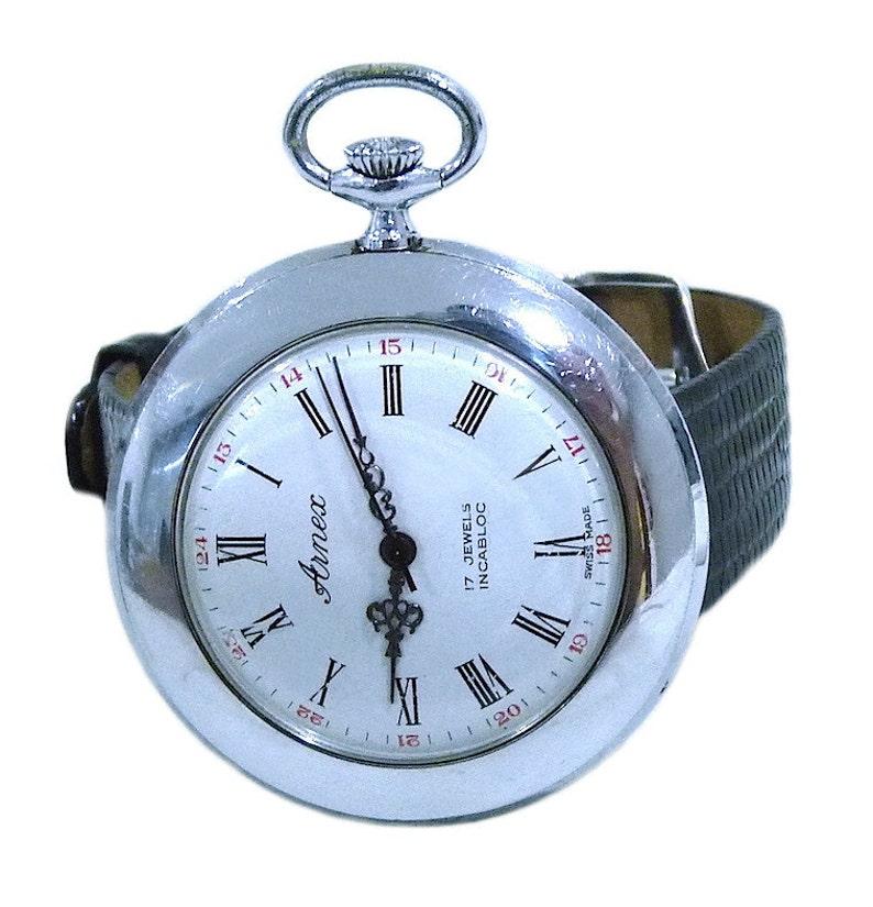 e31bc9783253 Arnex Vintage pulsera mecánico Incabloc bolsillo reloj suizo