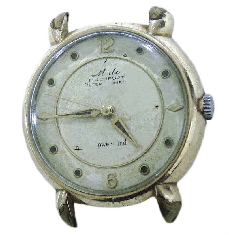 a6daf6ea2e5 Vintage Mido Multifort Super Automatic Powerwind 10K reloj