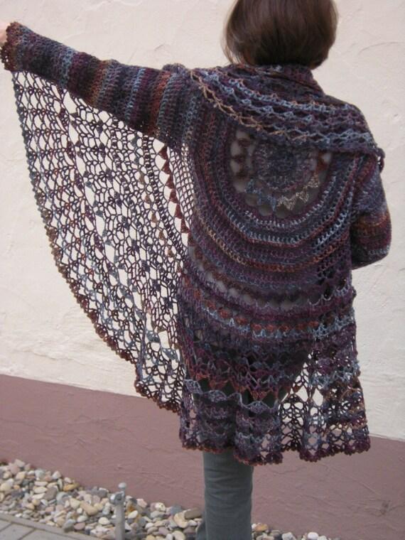 Crochet Pattern Pdf Jacket Häkelanleitung Circle Etsy