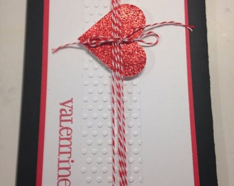Valentines Day handmade greeting Card with envelope
