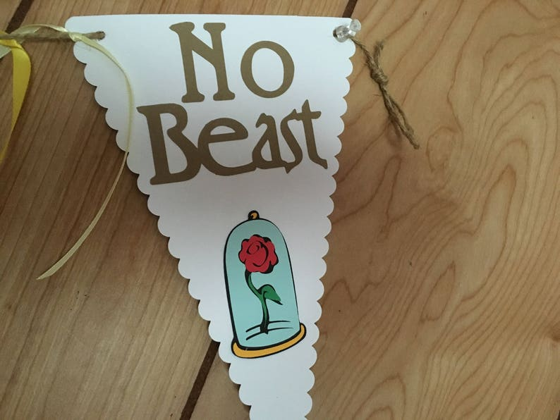 comes assembled Beauty and the Beast Happy Birthday Banner