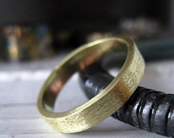 18K Green Gold Mens Wedding Band Size 10 Mens Wedding Ring Rustic Wedding Band Unique Wedding Ring Unique Mens Wedding Band Gold Mens