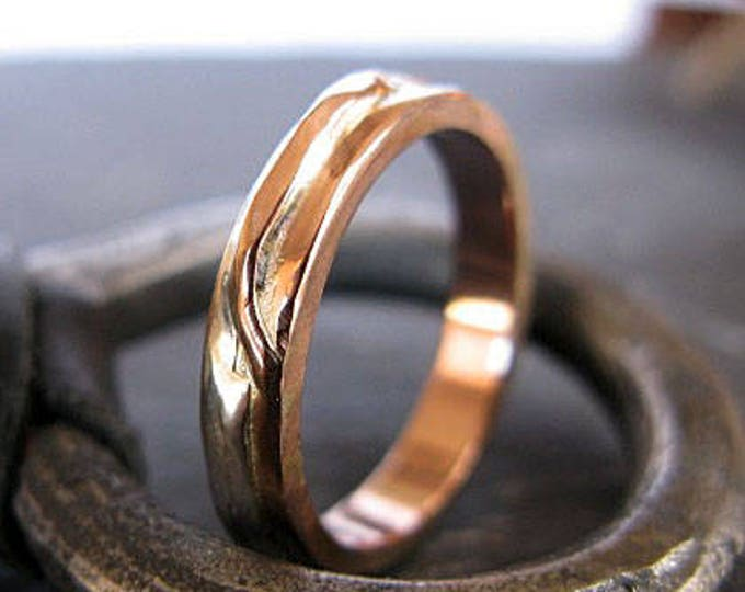14K Rose Gold Size 9.75 Mens Wedding Band