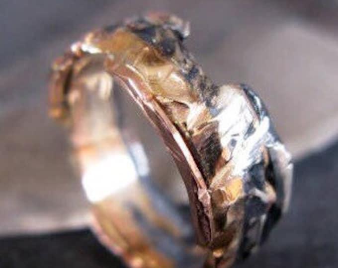 Mens Wedding Band Mens Wedding Ring Viking Wedding Ring Rustic Wedding Band Rose Gold Unique Wedding Band Unique Wedding Ring Viking Ring