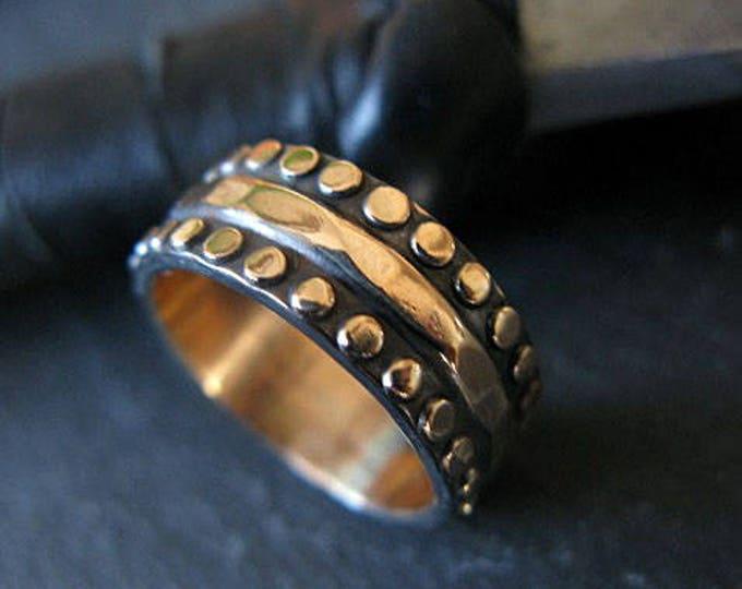 Size 5-1/2 Mens Wedding Band 7mm 14K Gold
